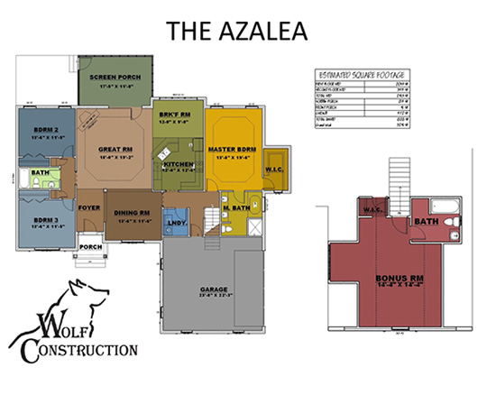 azaleafloorplan Versions Aiken House Plan on