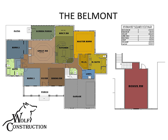 belmontfloorplan Versions Aiken House Plan on
