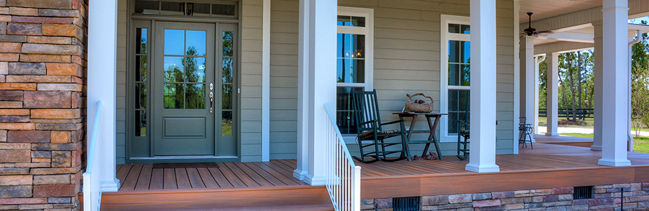 wraparound porch Wolf Contruction custom home builder Aiken SC